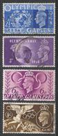 Great Britain 1948. Scott #271-4 (U) King George VI, Olympic Games ** Complet Set - Oblitérés