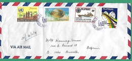 ! - Philippines (Pilipinas) - Enveloppe Avec 4 Timbres - Envoi Vers Bruxelles - Cachet De 1979 - Philippines
