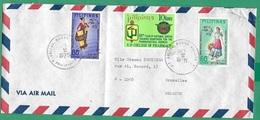 ! - Philippines (Pilipinas) - Enveloppe Avec 3 Timbres - Envoi Vers Bruxelles - Cachet De 1975 - Philippines
