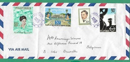 ! - Philippines (Pilipinas) - Enveloppe Avec 4 Timbres - Envoi Vers Bruxelles - Cachet De 1978 - Philippines
