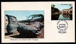 COLOMBIA- KOLUMBIEN - 1979  FDC/SPD. TOURISM, SAN FERNANDO CASTLE IN CARTAGENA - Colombie