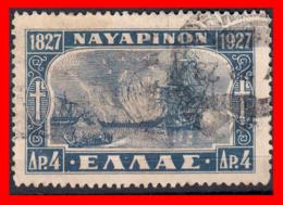 GRECIA - GREECE  SELLO 1927-28 BATTLE OF NAVARINO - Usados