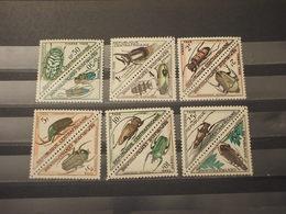 CENTRAFRICAINE - TASSE - 1962 INSETTI 12 VALORI - NUOVI(++) - Repubblica Centroafricana