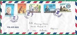 ! - Philippines (Pilipinas) - Enveloppe Avec 5 Timbres - Envoi Vers Bruxelles - Cachet De 1979 - Philippines