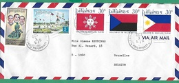 ! - Philippines (Pilipinas) - Enveloppe Avec 5 Timbres - Envoi Vers Bruxelles - Cachet De 1972 - Philippines