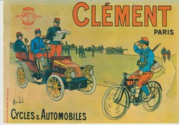 CP - CLÉMENT - PARIS - CYCLES & AUTOMOBILES - 4 - NOS VIEILLES AFFICHES - NUGERON - Werbepostkarten