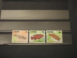 ZAIRE - 1978 PESCI 3 VALORI - NUOVI(++) - Francobolli
