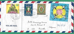 ! - Philippines (Pilipinas) - Enveloppe Avec 7 Timbres - Envoi Vers Bruxelles - Cachet De 1978 - Philippines