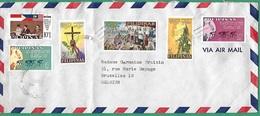 ! - Philippines (Pilipinas) - Enveloppe Avec 6 Timbres - Envoi Vers Bruxelles - Cachet De 1966 - Philippines