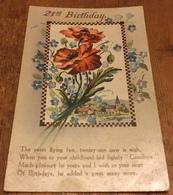 21st Birthday ~ Depicting Red Flowers ~ The Years Flying Fast, Twenty-one Now Is Nigh............... - Verjaardag