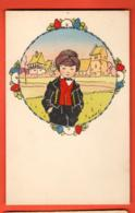 EBL-19  Illustrateur Hansi. Jeune Homme En Costume Alsacien. Editions La Cigogne Strasbourg. Non Circulé - Hansi