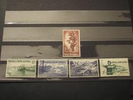 PAPUA NUOVA GUINEA- 1958/64 VARI 5 VALORI - NUOVI(++) - Papua Nuova Guinea