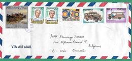 ! - Philippines (Pilipinas) - Enveloppe Avec 6 Timbres - Envoi Vers Bruxelles - Cachet De 1980 - Philippines