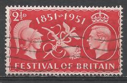 Great Britain 1951. Scott #290 (U) Britania Symbols Of Commerce And Prosperity, King George VI * - Oblitérés