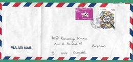 ! - Philippines (Pilipinas) - Enveloppe Avec 2 Timbres - Envoi Vers Bruxelles - Cachet De 1981 - Philippines