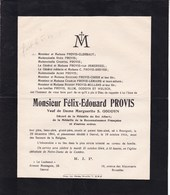 ROSSIGNOL GENVAL Félix-Edouard PROVIS Veuf GODDYN 1864-1944 Médaille Du Roi Albert Reconnaissance Française 14-18 - Esquela
