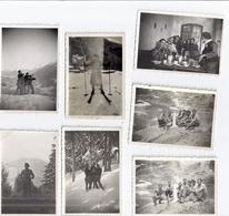 MAQUIS DE L'OISANS -MODANE 1939    MAQUISARDS - LOT DE 13 PHOTOS - Guerra, Militari