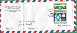 ! - Philippines (Pilipinas) - Enveloppe Avec 2 Timbres YT 1309/1310 BL 17 - Mi 1529/1530 BL 21 - Envoi Vers Bruxelles - Philippines