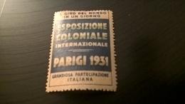PARIGI 1931 ESPOSIZIONE COLONIALE INTERNAZIONALE - Erinnofilia
