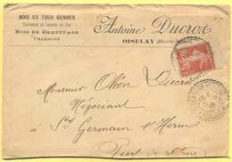 FRANCIA - France - 1916 - 10c Semeuse - Antoine Ducros - Viaggiata Da Oiselay-et-Grachaux Per Saint-Germain-l'Herm - France