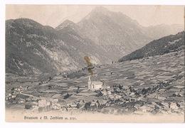 Cartolina - Postcard / Viaggiata - Sent / Brusson E M Zerbion – Valle D'Aosta (macchia Al Centro) - Italy