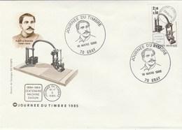 JOURNEE DU TIMBRE   1985    CENTENAIRE  DAGUIN  N°2362 - Postmark Collection (Covers)