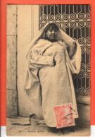 EBL-29 Femme Arabe Tunisienne Cachet Frontal 1913 Circulé. - Tunisia