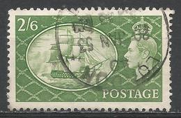 Great Britain 1951. Scott #286 (U) King George VI, H.M.S. Victory * - Oblitérés