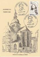 JOURNEE DU TIMBRE   1985    CENTENAIRE  DAGUIN  N°2362  SUR CARTE   - CARTE LOCALE - Postmark Collection (Covers)