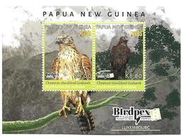 PAPUA NEW GUINEA- 2018- RARE BIRDS -SOUVENIR SHEET2V MNH ****  Rare Bird- Chestnet-shouldered Goshawk - Papúa Nueva Guinea