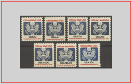 USA 1983 - Cat. SR 99/05 (MNH **/sg) Posta Ufficiale - Official Mail (1c. 4c. 13c. Senza Gomma) (010893) - United States