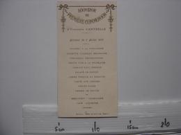 2 Menus COMMUNION 1925 MARIAGE 1935 Yvonnette Cantrelle HOTEL LION D'OR Marcilly REMY Patisserie La Ferte Gaucher - Menus