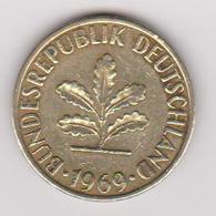 1969 Germania - 5 Pf Circolata (fronte E Retro) - [ 6] 1949-1990 : RDA - Rep. Dem. Tedesca