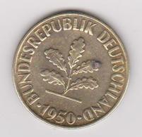 1950 Germania - 10 Pf Circolata (fronte E Retro) - 10 Pfennig