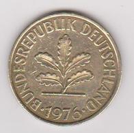 1976 Germania - 10 Pf Circolata (fronte E Retro) - 10 Pfennig