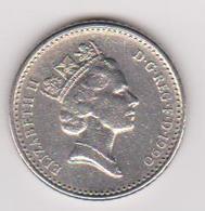 1990 Gran Bretagna - 5 Pence Circolata (fronte E Retro) - 1971-… : Monete Decimali