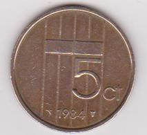1984 Olanda - 5 C Circolata (fronte E Retro) - Sonstige