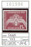 Saar - Saargebiet - Sarre - Michel 447 - ** Mnh Neuf Postfris - Neufs