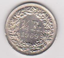 1969 Svizzara - 1/2 Fr Circolata (fronte E Retro) - Svizzera