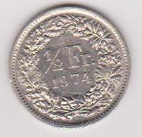 1974 Svizzara - 1/2 Fr Circolata (fronte E Retro) - Svizzera