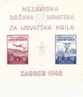 CROATIE Bloc No 2 Non Dentelé Nh - Croatia