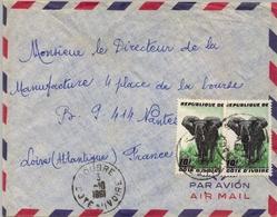 1961 , COSTA DE MARFIL , SOUBRE - NANTES , SOBRE CIRCULADO - Costa De Marfil (1960-...)