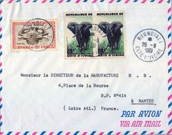 1961 , COSTA DE MARFIL , BOUNDIALI - NANTES , SOBRE CIRCULADO - Costa De Marfil (1960-...)