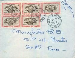 1961 , COSTA DE MARFIL , ABOISSO - NANTES , SOBRE CIRCULADO - Costa De Marfil (1960-...)