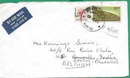 ! - Inde (India) - Enveloppe Avec 2 Timbres - Envoi Vers Bruxelles - Cachet De 1995 - Inde