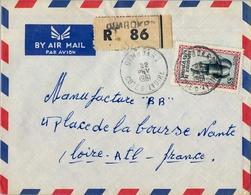 1961 , COSTA DE MARFIL , DIMBOKRO - NANTES , SOBRE CERTIFICADO , TRÁNSITO ABIDJAN - Costa De Marfil (1960-...)