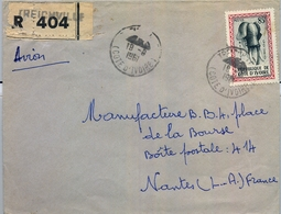 1961 , COSTA DE MARFIL , TREICHVILLE - NANTES , SOBRE CERTIFICADO , TRÁNSITO ABIDJAN , LLEGADA - Costa De Marfil (1960-...)