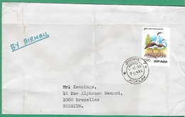 ! - Inde (India) - Enveloppe Avec 1 Timbre - Envoi Vers Bruxelles - Cachet De 1980 - Inde