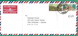 ! - Inde (India) - Enveloppe Avec 2 Timbres - Envoi Vers Bruxelles - Cachet De 1999 - Inde