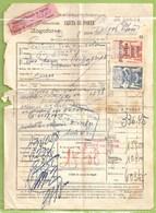 Anadia - Lisboa - Carta De Porte, 1943 - Caminho De Ferro - Seguros - Vinheta - Aveiro - Portugal - Portugal
